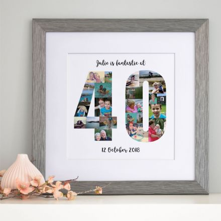 Personalised 40th Birthday Photo Collage